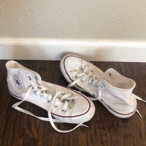 White High Top Converse Women's size 7